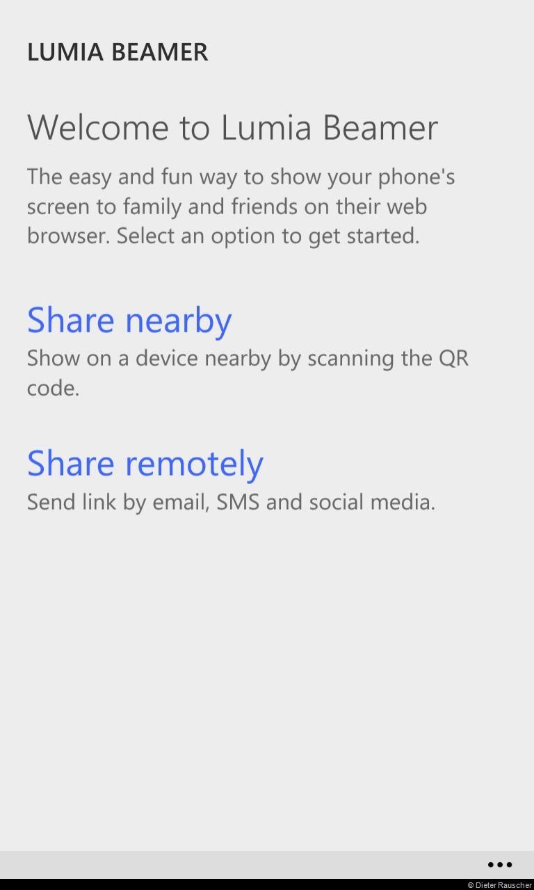 App Lumia Beamer